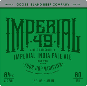 Goose Island Beer Company Imperial 49