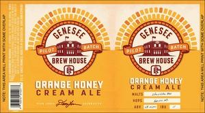 Genesee Brew House Orange Honey Cream Ale