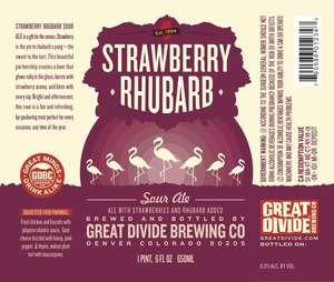 Great Divide Brewing Co. Strawberry Rhubarb Sour Ale