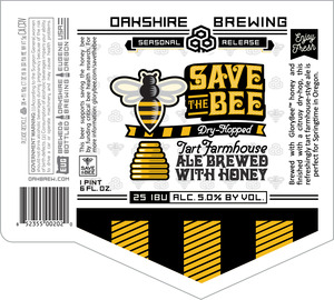 Save The Bee Dry Hopped Tart Farmhouse Ale