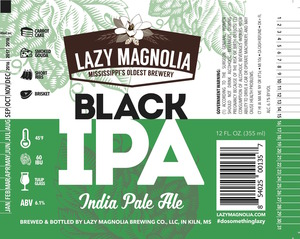 Lazy Magnolia Brewing Company Black IPA