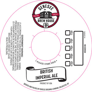 Genesee Brew House British Imperial Ale