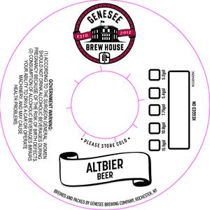 Genesee Brew House Altbier Beer