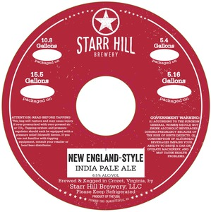 Starr Hill New England-style India Pale Ale
