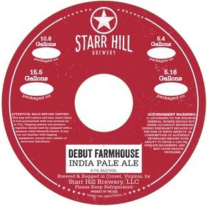 Starr Hill Debut Farmhouse India Pale Ale