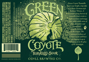Odell Brewing Company Green Coyote