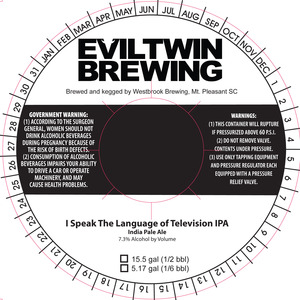 Evil Twin Brewing I Speak The Language Of Television IPA