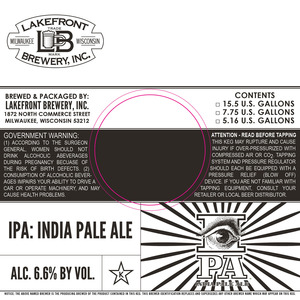 Lakefront Brewery India Pale