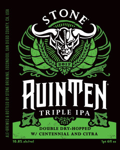 Stone Ruinten Triple Ipa Double Dry-hopped W/centennial And Citra