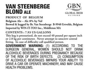 Van Steenberge Blond