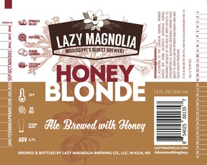 Lazy Magnolia Brewing Company Honey Blonde