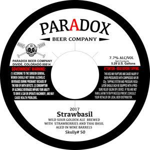 Paradox Beer Company Strawbasil