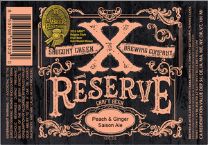 Xreserve Peach & Ginger Saison Ale
