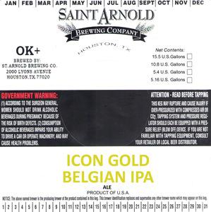Saint Arnold Brewing Company Icon Gold Belgian IPA