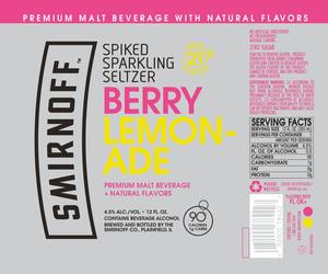 Smirnoff Berry Lemonade - Beer Syndicate
