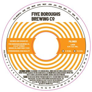 Five Boroughs Brewing Co. Pilsner