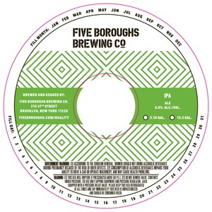 Five Boroughs Brewing Co. IPA