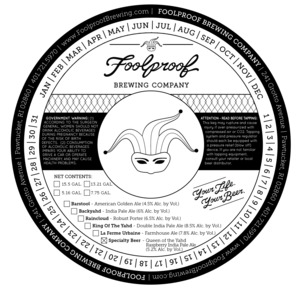 Foolproof Brewing Company Queen Of The Yahd
