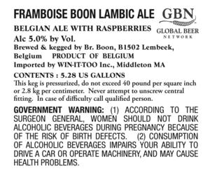 Framboise Boon Lambic Ale