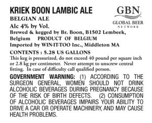 Kriek Boon Lambic Ale