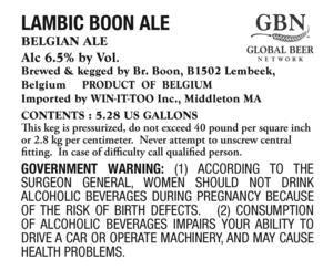 Lambic Boon Ale