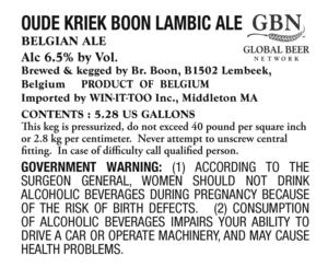 Oude Kriek Boon Lambic Ale