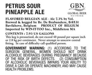 Petrus Sour Pineapple Ale
