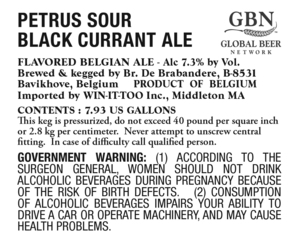 Petrus Sour Black Currant Ale