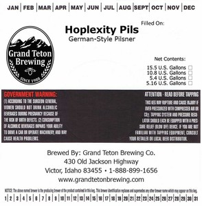 Grand Teton Brewing Company Hoplexity Pils