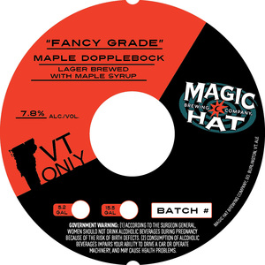 """fancy Grade"" Maple Dopplebock April 2017"