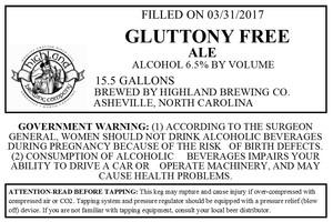 Highland Brewing Co. Gluttony Free