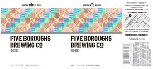 Five Boroughs Brewing Co. Gose
