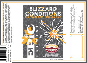 Epic Brewing Company Blizzard Conditions