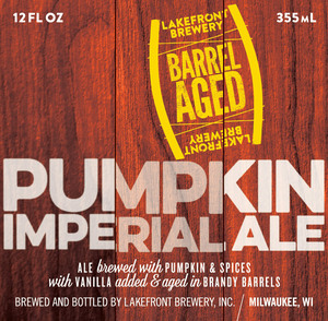 Lakefront Brewery Pumpkin Imperial