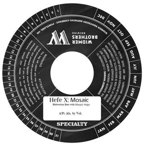 Widmer Brothers Brewing Co. Hefe X: Mosaic