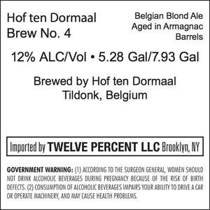 Hof Ten Dormaal Brew No. 4