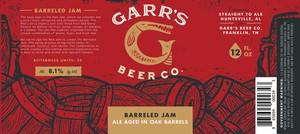 Garr's Beer Co. Barreled Jam - Ale Aged In Oak Barrels
