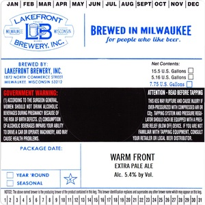 Lakefront Brewery Warm Front