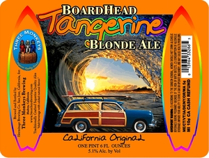 Three Monkeys Boardhead Tangerine Blonde Ale