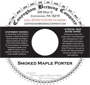 Conyngham Brewing Company Smoked Maple Porter