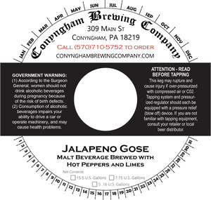 Conyngham Brewing Company Jalapeno Gose