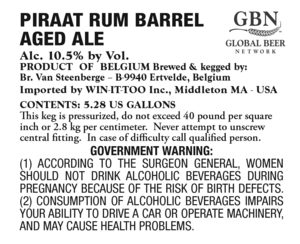 Piraat Rum Barrel Aged Ale
