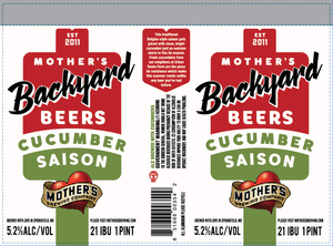 Mother's Brewing Company Cucumber Saison