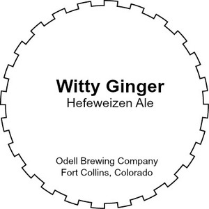 Odell Brewing Company Witty Ginger