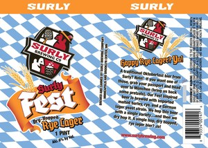 Surlyfest Rye Lager