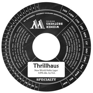Widmer Brothers Brewing Co. Thrillhaus May 2017