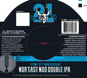 Stone 21st Anniversary Nor'east Nod Double IPA