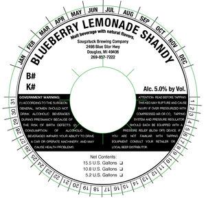 Saugatuck Brewing Company Blueberry Lemonade Shandy