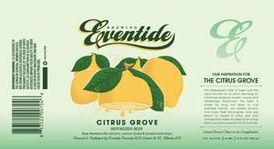 Eventide Brewing Citrus Grove Hefeweizen