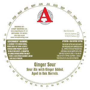 Avery Brewing Co. Ginger Sour